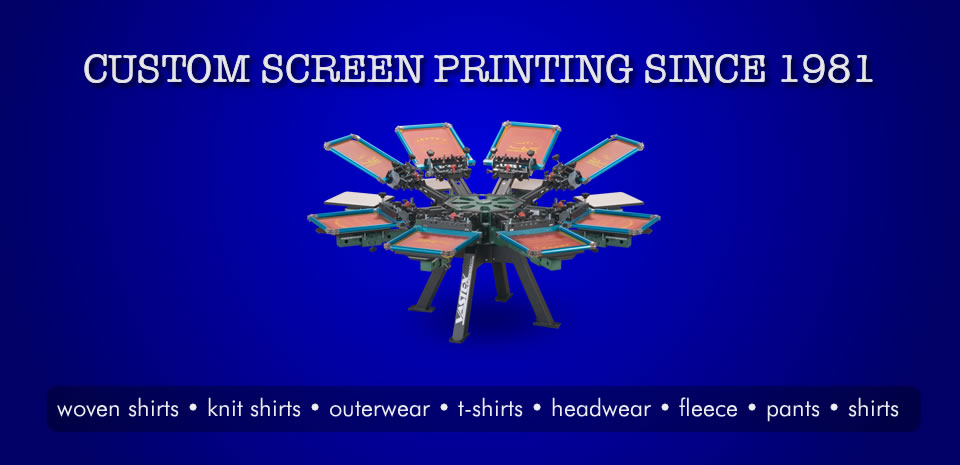 T-Shirt and Cap Screen Printing Services